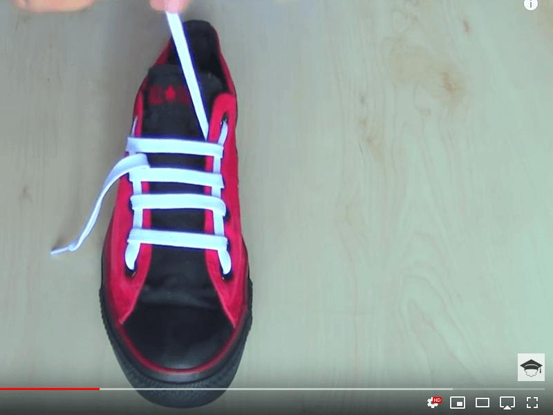 Cara ikat tali kasut
