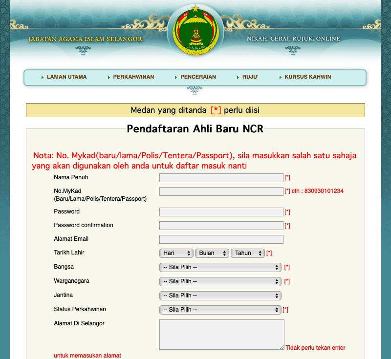 Sistem ncr.jais.gov.my
