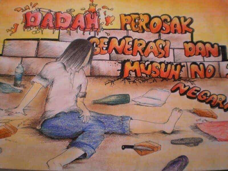 Poster anti dadah paling kreatif