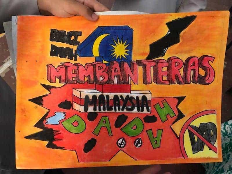 Poster anti dadah tercantik