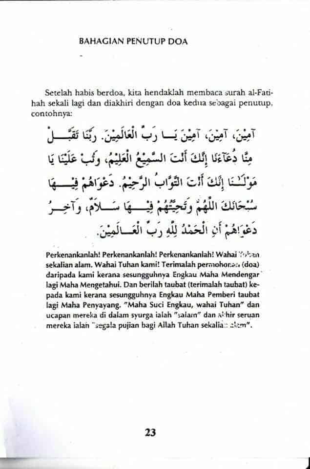 Doa sembahyang fardhu pdf